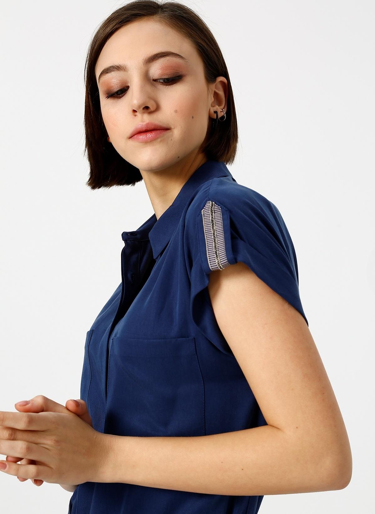 Fabrika Kısa Kollu Gömlek Elbise 19-evıtafabrika Elbise – 334.95 TL